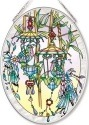 Amia 42567 Exotic Birdhouses Medium Oval Suncatcher