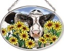 Amia 42573 In Daisies Daze Small Oval Suncatcher