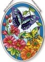 Amia 42606 Garden Fashion Show Small Oval Suncatcher