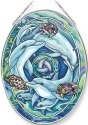 Amia 42648 Dolphin Planet Large Oval Suncatcher
