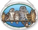 Amia 42677 Owls Night Watch Medium Oval Suncatcher