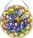 Amia 42711 Honeycomb Bee Small Circle Suncatcher