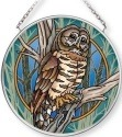 Amia 42713 Owl Small Circle Suncatcher