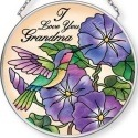 Amia 42714 I Love You Grandma Hmbird Small Circle Suncatcher