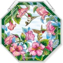 Amia 42789 Pretty in Pink Beveled Medium Octagon Panel