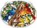Amia 42799 Wild Birds Co op Medium Oval Suncatcher