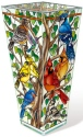 Amia 42803 Wild Birds Co op Vase