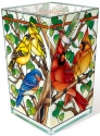 Amia 42804 Wild Birds Co op Rectangular Vase Votive Holder