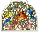 Amia 42807 Wild Birds Co op Beveled Panel