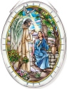 Amia 42811N Gabriel & Mary Large Oval Suncatcher