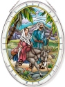 Amia 42812N Mary & Joseph Large Oval Suncatcher