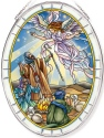 Amia 42813N Shepherds Visit Jesus Large Oval Suncatcher
