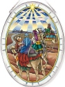 Amia 42814N The Visit of the Wisemen Large Oval Suncatcher