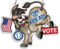 Amia 42822 Time to Kick Ass Democratic Donkey Watercut Suncatcher