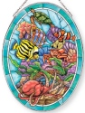Amia 42857N Sealife Large Oval Suncatcher