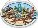 Amia 42859N Surf Birds Large Oval Suncatcher