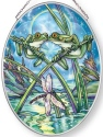 Amia 42860N Frogs & Kisses Medium Oval Suncatcher