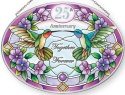 Amia 42868N 25th Anniversary Medium Oval Suncatcher