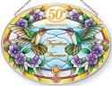 Amia 42869N 50th Anniversary Medium Oval Suncatcher