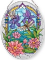 Amia 42870N Waterlilies Medium Oval Suncatcher