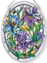 Amia 42871 Dragonflies & Irises Medium Oval Suncatcher