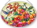 Amia 42872 Hummingbird Hideaway Medium Oval Suncatcher