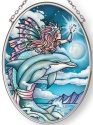 Amia 42876N Wish Upon A Dolphin Small Oval Suncatcher