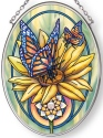 Amia 42877N Butterfly Magic Small Oval Suncatcher