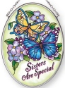 Amia 42880N Sisters Are Special Small Oval Suncatcher