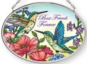 Amia 42883 Best Friends Forever Small Oval Suncatcher