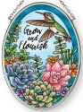 Amia 42884 Grow and Flourish Small Oval Suncatcher