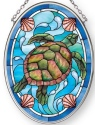 Amia 42885 Sea Turtle Small Oval Suncatcher