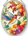 Amia 42887 Hummingbird Hideaway Small Oval Suncatcher