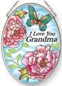 Amia 42888N Love Grandma Small Oval Suncatcher