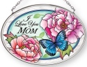 Amia 42889N Love Mom Small Oval Suncatcher
