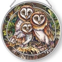 Amia 42896 Owl Be There Medium Circle Suncatcher