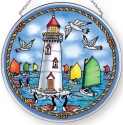 Amia 42904N Catboats and Light Medium Circle Suncatcher
