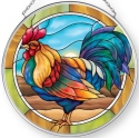 Amia 42905N Rooster Medium Circle Suncatcher