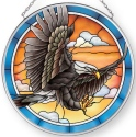 Amia 42906N Eagle Medium Circle Suncatcher