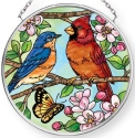 Amia 42910N Favorite Garden Birds Small Circle Suncatcher