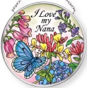 Amia 42911N I Love My Nana Small Circle Suncatcher