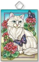 Amia 42917 Garden Cat Rectangle Suncatcher