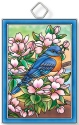 Amia 42931 Bluebird and Dogwoods Rectangle Suncatcher