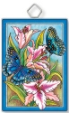 Amia 42939 Butterflies and Lilies Rectangle Suncatcher