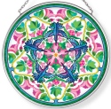 Amia 42960 Hummers And Hollyhocks Medium Circle Suncatcher