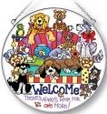 Amia 5192i Welcome Large Circle Suncatcher
