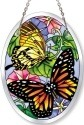 Amia 5233 Unfurling Glory Beveled Small Oval Suncatcher