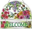Amia 5247 Hummingbird Garden N Bloom Beveled Welcome Panel