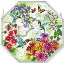 Amia 5249 Hummingbird Garden N Bloom Large Octagon Panel