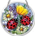 Amia 5263 Ladies In Red Medium Circle Suncatcher